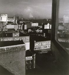 City rooftops, (1942, printed 1985) by Olive Cotton (Australia, 1911 - 2003)