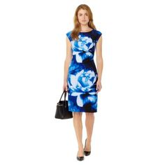 The-Collection-Womens-Blue-Oversized-Floral-Print-Jersey-Dress-From-Debenhams