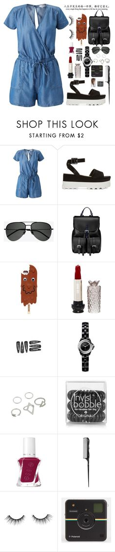 """tourist"" by anabelisstyle ❤ liked on Polyvore featuring Miss Selfridge, Miu Miu, Yves Saint Laurent, Aspinal of London, Moschino, Anna Sui, Chanel, Invisibobble and tarte"