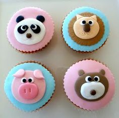 cuttest animal cupcakes ever