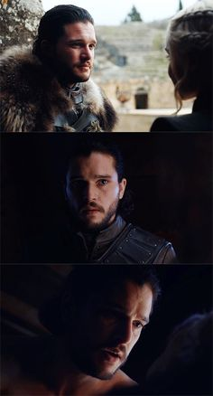 The way Jon looks at Daenerys is priceless.