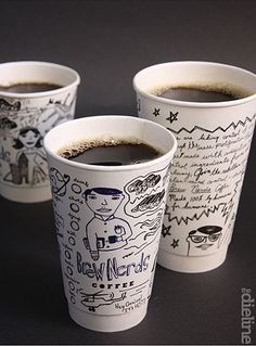 Cool idea for a independent coffee shop/café... coffeecup