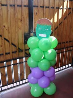 Narthex or Gym Entrance Hulk Birthday Parties, Superhero Birthday Party, Lego Birthday, Third Birthday, Hulk Party, Superman Party, Avengers Party Decorations, Balloon Decorations, Avengers Birthday
