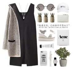 i'm the violence in the pouring rain by ruthaudreyk on Polyvore featuring Jil Sander, American Apparel, Forever 21, October's Very Own, Casetify, The Row, Chanel, philosophy, Crate and Barrel and Linea