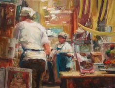 In The Night Kitchen, painting by artist Robin Cheers