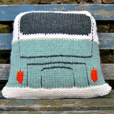 This knitting pattern is to make a Campervan Cushion Cover approximately 40cm/16″ square. I've made the original in Wendy Serenity Super Chunky yarn (Chalk for the roof, Jet for the windows and Celery for the body, other colours available are shown in the last photo) (3 x 100g balls) which I knitted to a tension of 10 sts and 12 rows to 10cm/4 inches. Of course you can use any yarn you like as long as the tension is correct! I used 9mm needles (UK00, US 13). To finish the cushion yo...