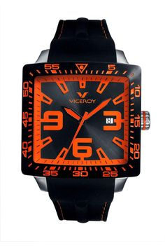 VICEROY SQUARE BLACK DIAL WATCH  //  Strong.