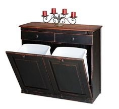 Vintage Creations By Sam Lancaster PA Amish Furniture Recycling Bins.