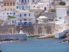 Lighthouse at Bouka bay Kasos island Dodecanese