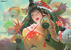Une sélection des créations étonnantes deZeenChin, un illustrateur malaysien qui mélange de nombreuses influences et cultures asiatiques, du Japon à la C