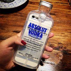 Modische transparente Silikon Wodka Handyhülle für Ihpone5/5s/6/6s