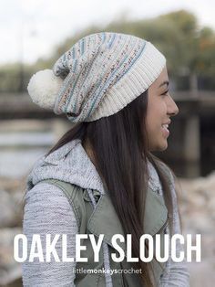 Oakley Slouch Hat Crochet Pattern  |  Free slouchy hat crochet pattern by Little Monkeys Crochet - sock yarn