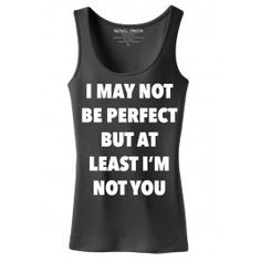 Women's Not Perfect Tank Top - Black