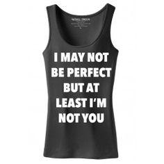 Women's Not Perfect Tank Top - Black