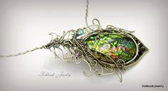Kokkozik Artisan Jewelry: Peacock Feather