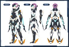Safebooru is a anime and manga picture search engine, images are being updated hourly. Character Model Sheet, Character Modeling, Character Creation, 3d Character, Character Concept, Cyberpunk Anime, Mecha Anime, Game Concept Art, Armor Concept