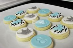 "Photo 1 of 17: Tiffany blue inspiered zebra baby shower / Baby Shower/Sip & See ""Zebra"" 