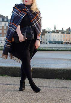 labelsforlunch outfit post boden cape coat tartan