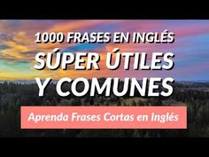 1000 Frases en Inglés Súper Útiles y Comunes - Aprenda Frases Cortas en Inglés - YouTube Youtube, English, Homeschooling, Audio, Crochet, Fashion, English Lessons, Learning English, Friends Hugging