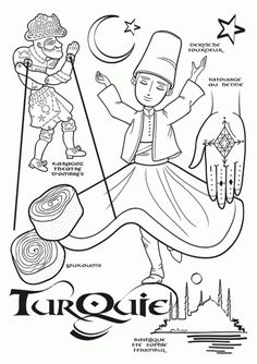 Turkey Paper Doll To Color