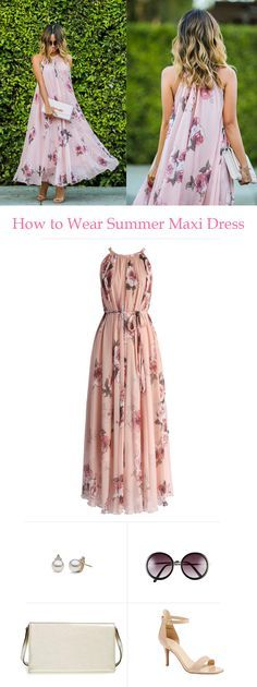 How to wear a summer maxi dress. chicwish.com  Light, flowy and pretty swing dress.