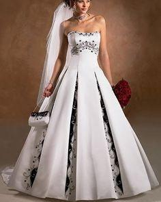 gothic black and white wedding dresses