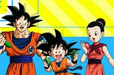 Goku, chichi and Goten♡