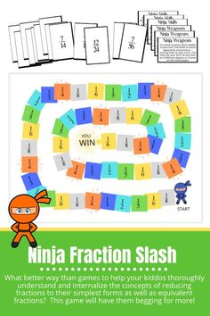 What better way than games to help your kiddos thoroughly understand and internalize the concepts of reducing fractions to their simplest forms as well as equivalent fractions? If you want your children to beg you for math instead of having to force it on them, math games are the answer. #mathisfun #mathgames #homeschoolmath #homeschooling Phonics Games, Teaching Phonics, Homeschool Kindergarten, Homeschooling, Preschool, Math Made Easy, Equivalent Fractions, Math School, Beginning Reading