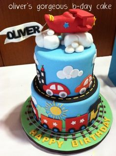 Tyler Camping Birthday Cakes