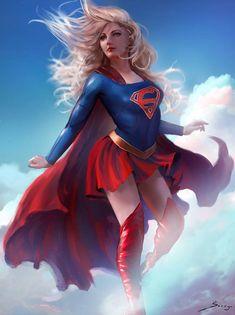 Supergirl[Commission] by Ron-faure on DeviantArt Dc Comics Characters, Dc Comics Art, Comics Girls, Marvel Dc Comics, Marvel Girls, Mundo Superman, Superman Art, Kara Danvers Supergirl, Supergirl Comic