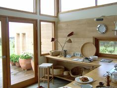 LOVE, LOVE, LOVE this combination of rammed earth and timber (by a NSW builder)