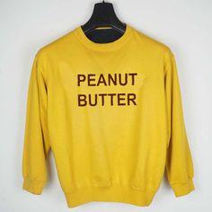 peanut butter yellow Unisex Sweatshirts