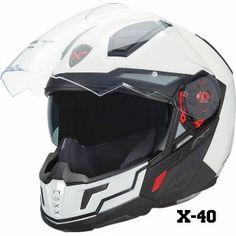 Nexx X40 Motorcycle Helmet in open position