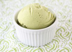 Avocado in ice cream? Yes, please, for a healthy dessert that has some nutrition power, too! Avocado Ice Cream at Two Peas and Their Pod