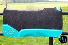 Turquoise & Gold Arrow Saddle pad designed by Horses & Heels