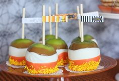 Candy Corn Candy Apples
