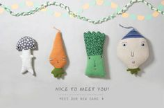 New creatures - suki, jasper, billy and neep- available www.donnawilson.com