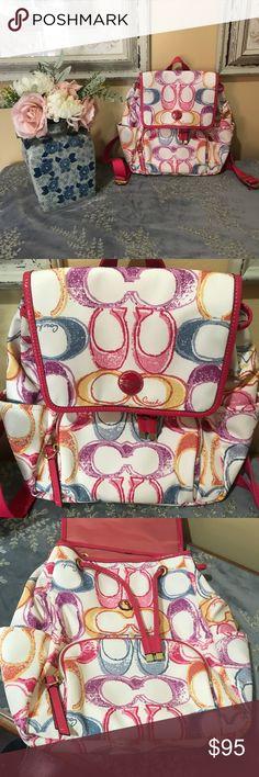 Coach bookbag purse Pristine condition authentic Coach Bags Backpacks