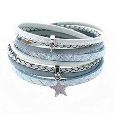 Mint/Blue faux leather wrap bracelet £10 https://www.peonyandmint.com/collections/jewellery-bracelets/products/soft-mint-star-faux-leather-wrap-around-bracelet