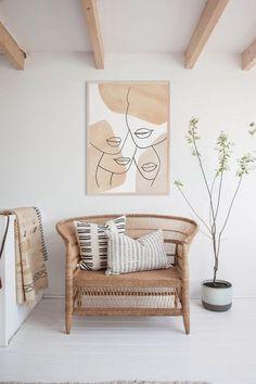 Modern Prints, Mid-century Modern, Neutral Walls, Female Art, Female Lips, Minimalist Art, Abstract Print, Diy Art, Printable Wall Art