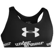 under armour sports bra.... black