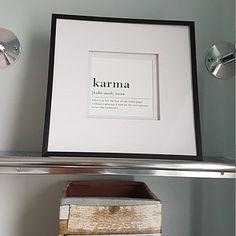 Funny Karma Quote Karma Definition Poster Karma Printable   Etsy Funny Bathroom Art, Bathroom Humor, Karma Definition, Funny Karma Quotes, International Paper Sizes, Definitions, As You Like, Digital Prints, Printables