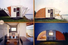 """""""De Markies"""" expands to three times its towed size  Not an airstream but I couldn't pass this one up."""