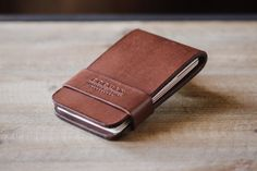 Leather card flip wallet