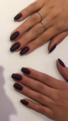 These black matte nails are one of the new 2017 trend. Get yours done today at Hush Salon and Spa in Lincoln Park Chicago, IL.