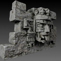 Stone head Model available on Turbo Squid, the world's leading provider of digital models for visualization, films, television, and games. Mayan Ruins, Ancient Ruins, Aztec Artifacts, Aztec Temple, Cement Art, Unicorn Pictures, Mexico Art, Mexica, Inca
