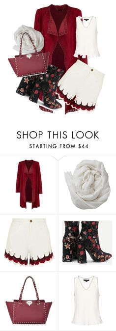 """""""Red Up"""" by adalinamae ❤ liked on Polyvore featuring Brunello Cucinelli, Chloé, Valentino and Alexander Wang"""