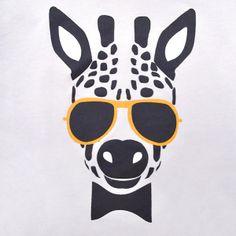echt leuk voor mijn zoon zijn T-shirt, die momenteel zot is van giraffen en leeuwen
