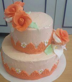 Orange buttercream cake/ oranje botercreme taart