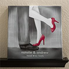 "Head Over Heels Personalized Canvas Print-12"" x 12"""
